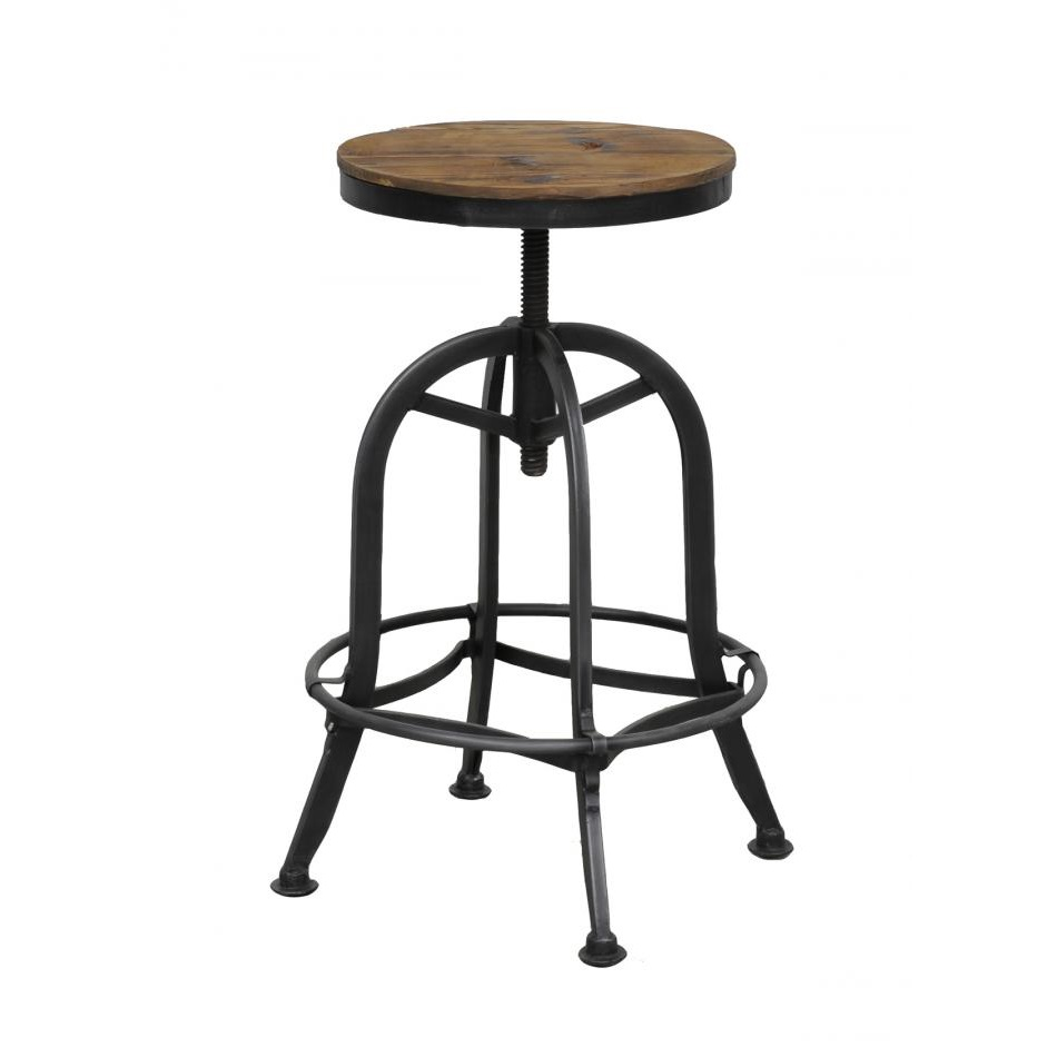 up back industrial low with stool chair bar