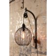 Globe Sconce Pulley Lamp