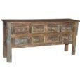 8 Drawer Reclaimed Wood Console