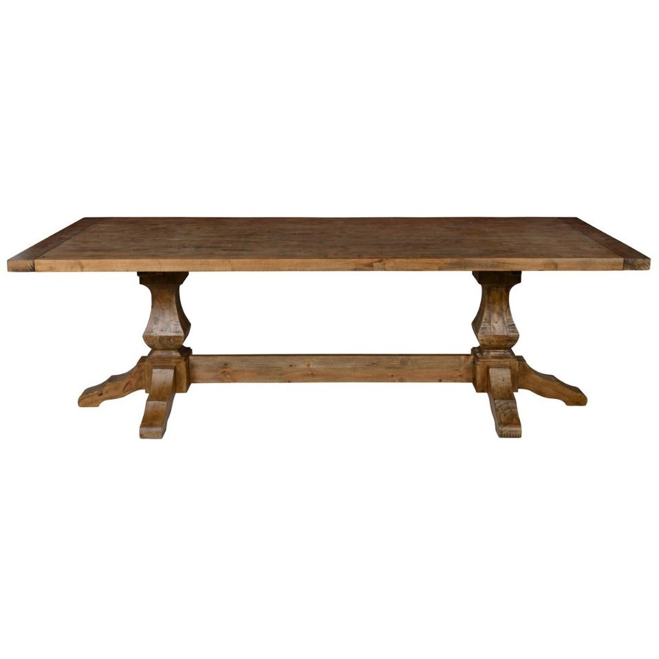 kester double pedestal dining table cokas diko home furnishings