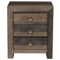 Lex 3 Drawer Nightstand in Storm