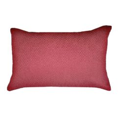 CDH Textured Red Lumbar Pillow