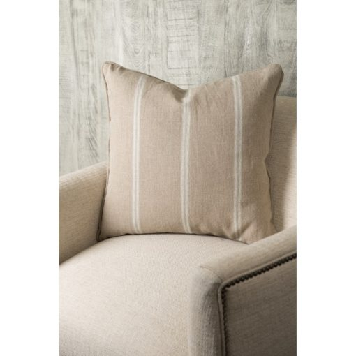 Ivory Striped Pillow