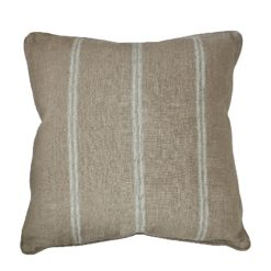 CDH Ivory Striped Pillow