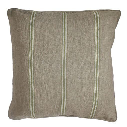CDH Green Striped Pillow