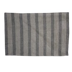 Black Striped Linen Placemat