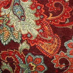 Burgundy Paisley Pillow