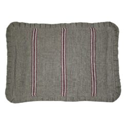 Burgundy Striped Linen Placemat