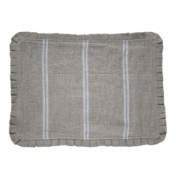 Ivory Striped Linen Placemat