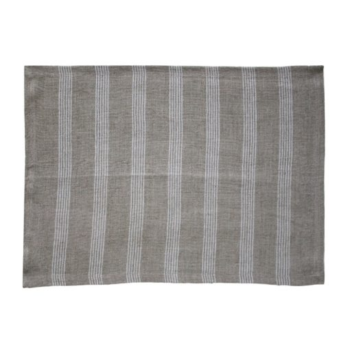 Linen Ivory Striped Placemat