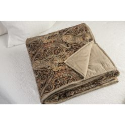 CDH - Natural Velvet Throw