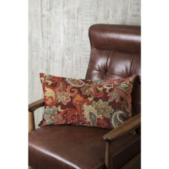 Burgundy Paisley Lumbar Pillow