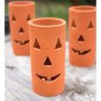 Clay Jack O Lanterns Set of 3