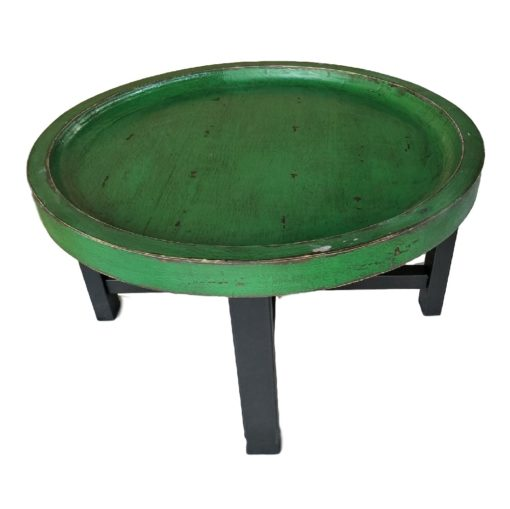 CDH Painted Round Coffee Table – Green