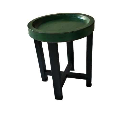 CDH Painted Round End Table – Green
