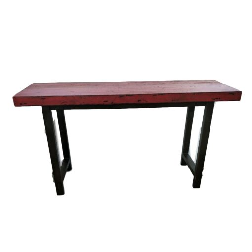 CDH Painted Console Table – Red