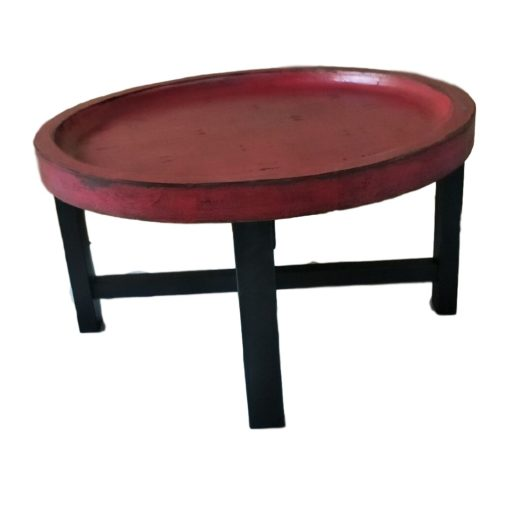 CDH Painted Round Coffee Table – Red