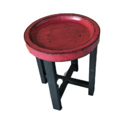 CDH Painted Round End Table - Red