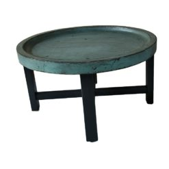 CDH Painted Turquoise Round Coffee Table