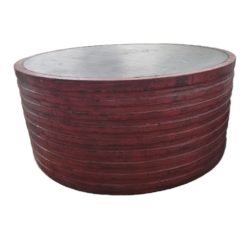 CDH Round Painted Red Barrel Coffee Table