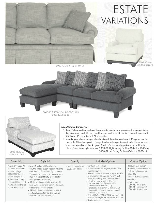 Estate Variations Sleeper Sofa As