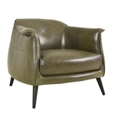 CDH Leather Club Chair in Gray