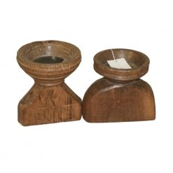Vintage Wood Candle Stand
