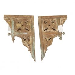 Vintage Carved Wood Bracket