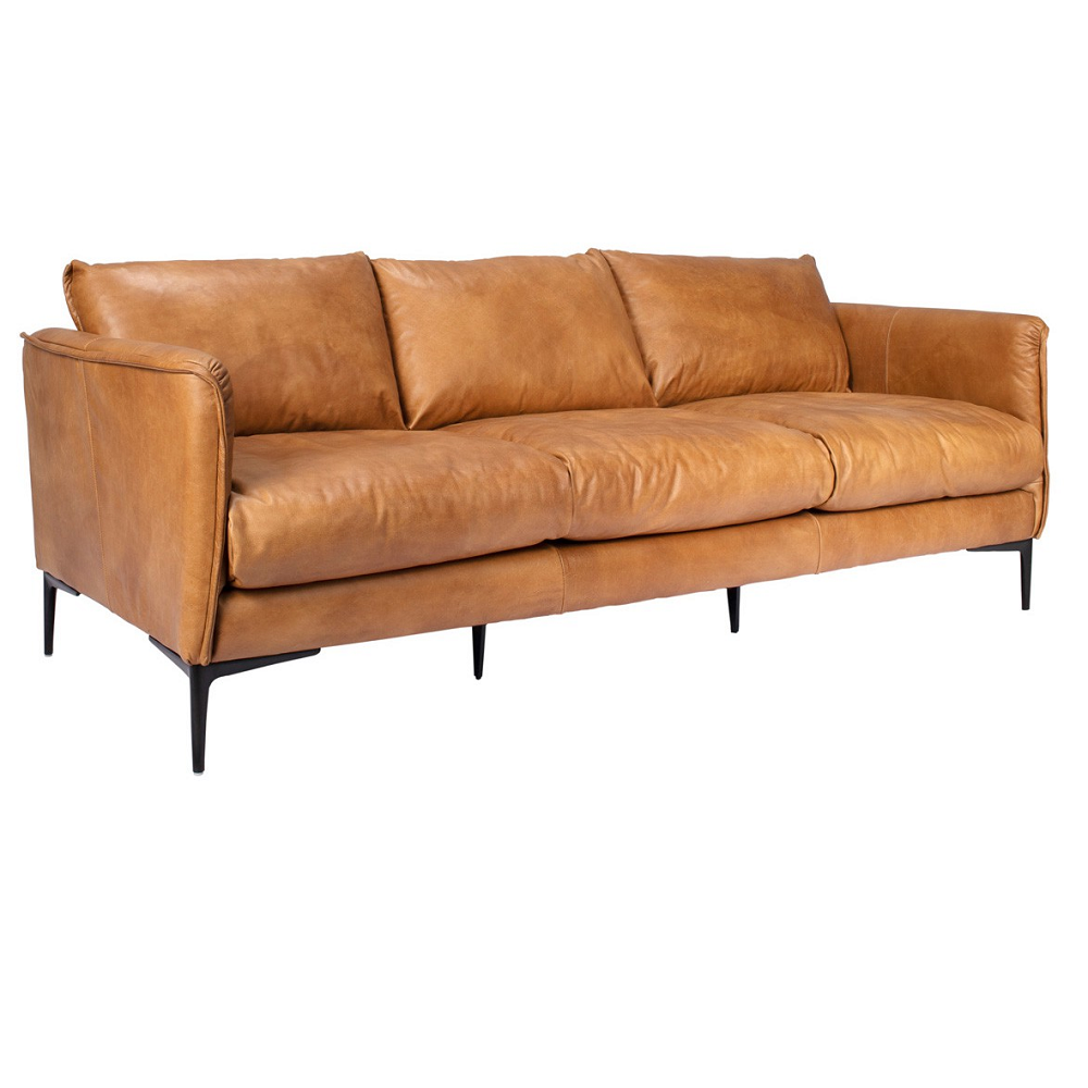Excellent Abby Leather Sofa Pabps2019 Chair Design Images Pabps2019Com