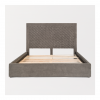 Woven Grey Upholstered Bed - 76490