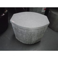 Grey Terrazzo Accent Table