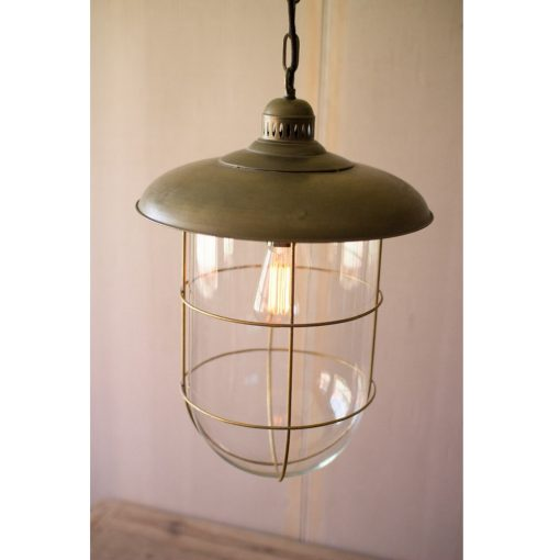 Aris Caged Glass Dome Pendant Light xxx_0