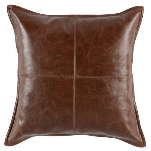 Set of 2 David Leather Kona Accent Pillows xxx_0
