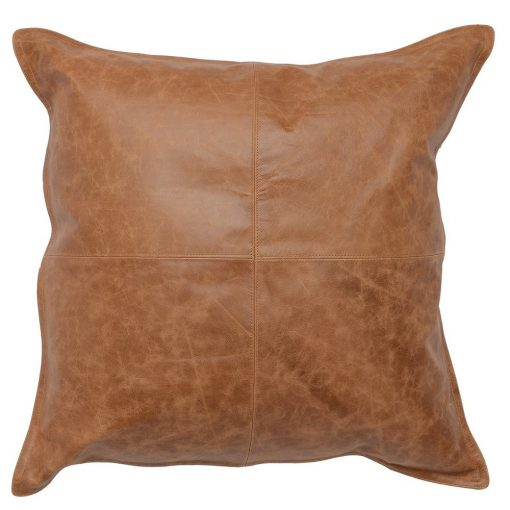 Set of 2 David Leather Chestnut Accent Pillows xxx_0