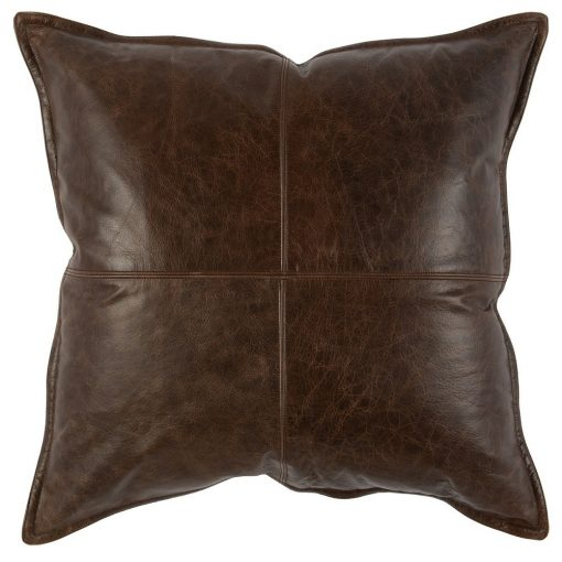 David Leather Cocoa Accent Pillows xxx_0