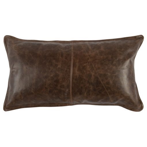 Set of 2 David Leather Cocoa Pillows xxx_0