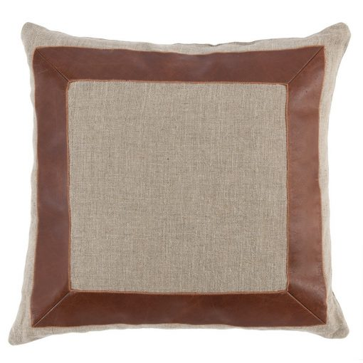 Set of 2 Moore Brown & Natural Pillows xxx_0