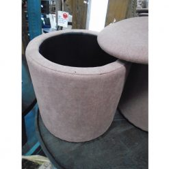Upholstered Storage Pouf
