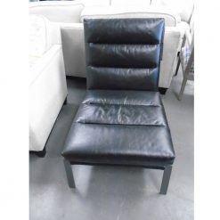 Percy Black Accent Chair