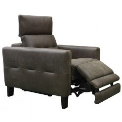 CDH Custom Leather Recliner in Dark Cayan