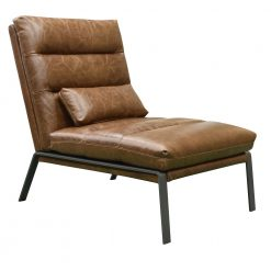 CDH Custom Leather Accent Chair in Tobacco