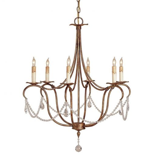 Crystal Lights Gold Small Chandelier xxx_0