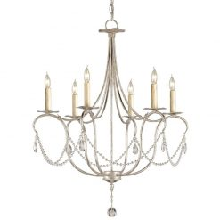 Cabernet Silver Small Chandelier
