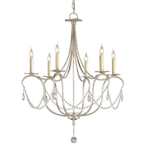 Crystal Lights Silver Small Chandelier xxx_0