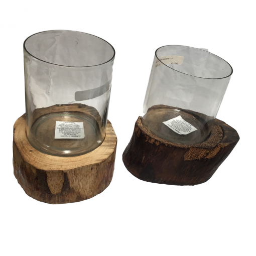 Wood and Glass Candle Holder xxx_0