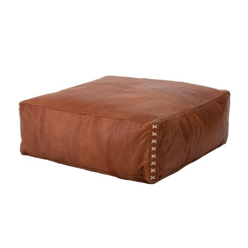 Carter Leather Pouf xxx_0