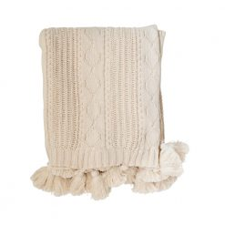 Weekender Cable Knit Throw