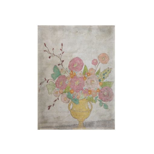 Flowers in Yellow Vase Decorative Paper xxx_0