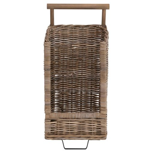 Rattan Trolley with Casters xxx_0