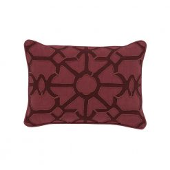 Holiday Dark Red Pillow